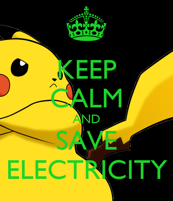 keep calm and save electricity poster georgia keep calm o matic. Black Bedroom Furniture Sets. Home Design Ideas