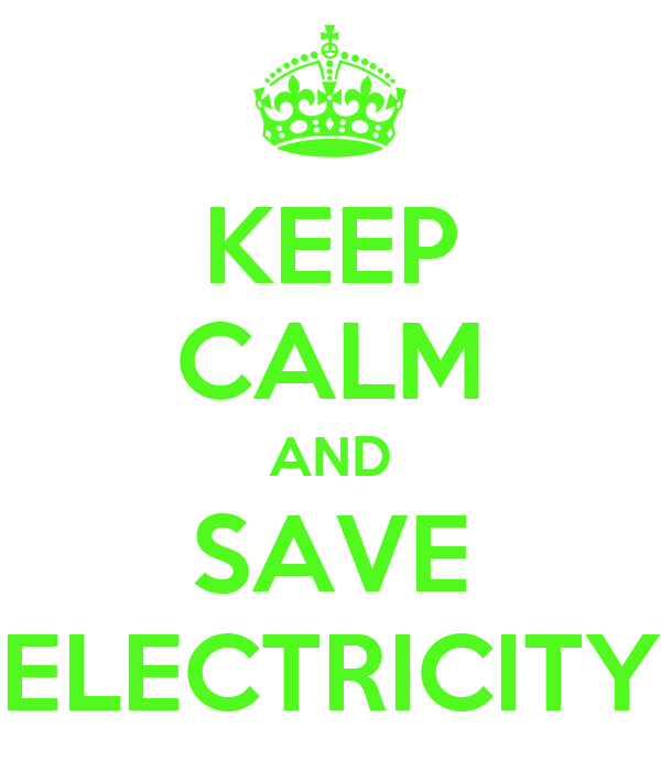 Electricity: Why Save Electricity