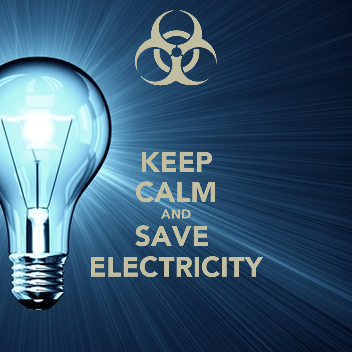 keep calm and save electricity poster salmaan keep calm o matic. Black Bedroom Furniture Sets. Home Design Ideas