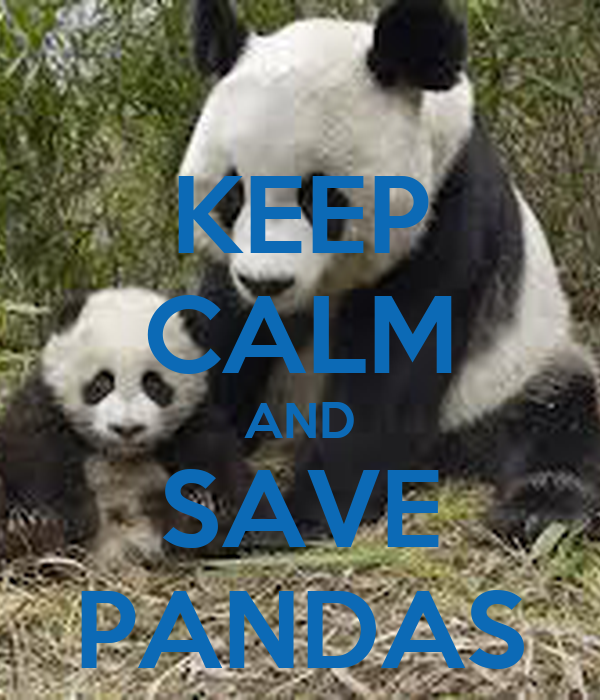 KEEP CALM AND SAVE PANDAS