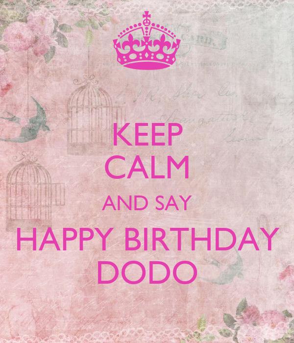 happy birthday dodo
