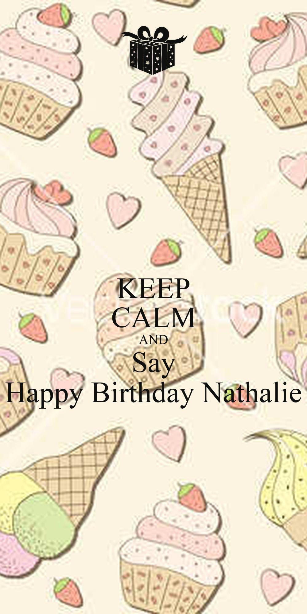 KEEP CALM AND Say Happy Birthday Nathalie Poster