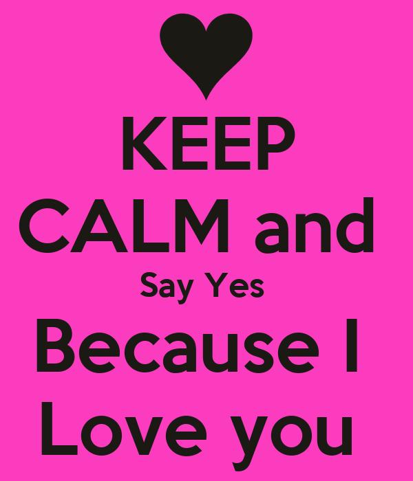 yes i love u