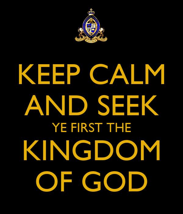 Seven Ways To Seek First The Kingdom of God - beliefnet.com