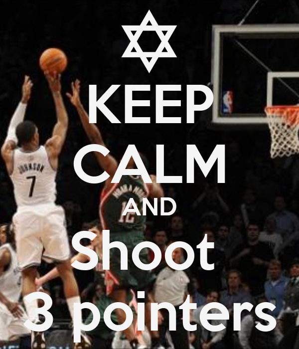 KEEP CALM AND Shoot  3 pointers
