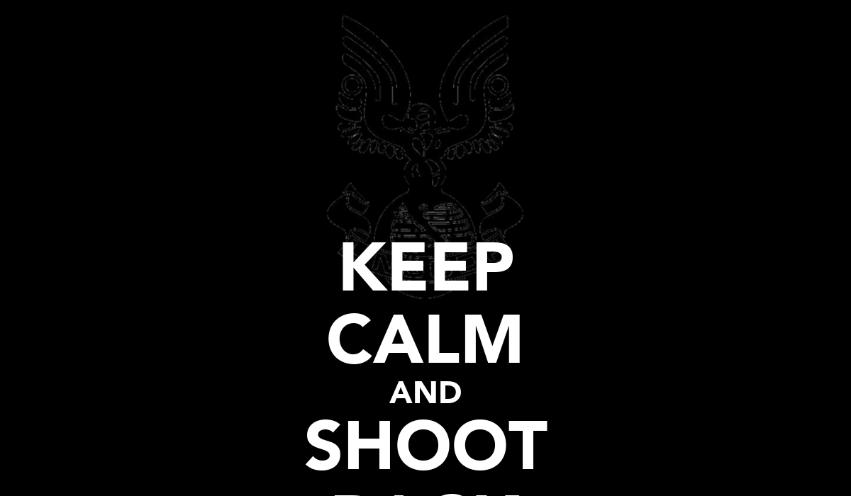 Keep calm and shoot back poster anthony keep calm o matic