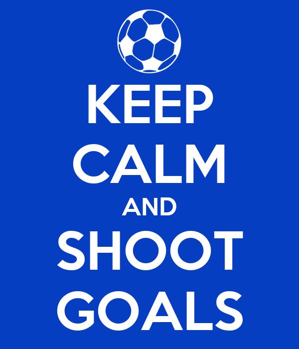 Keep calm and shoot goals poster homer keep calm o matic