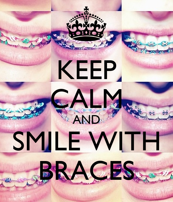 how to smile with braces