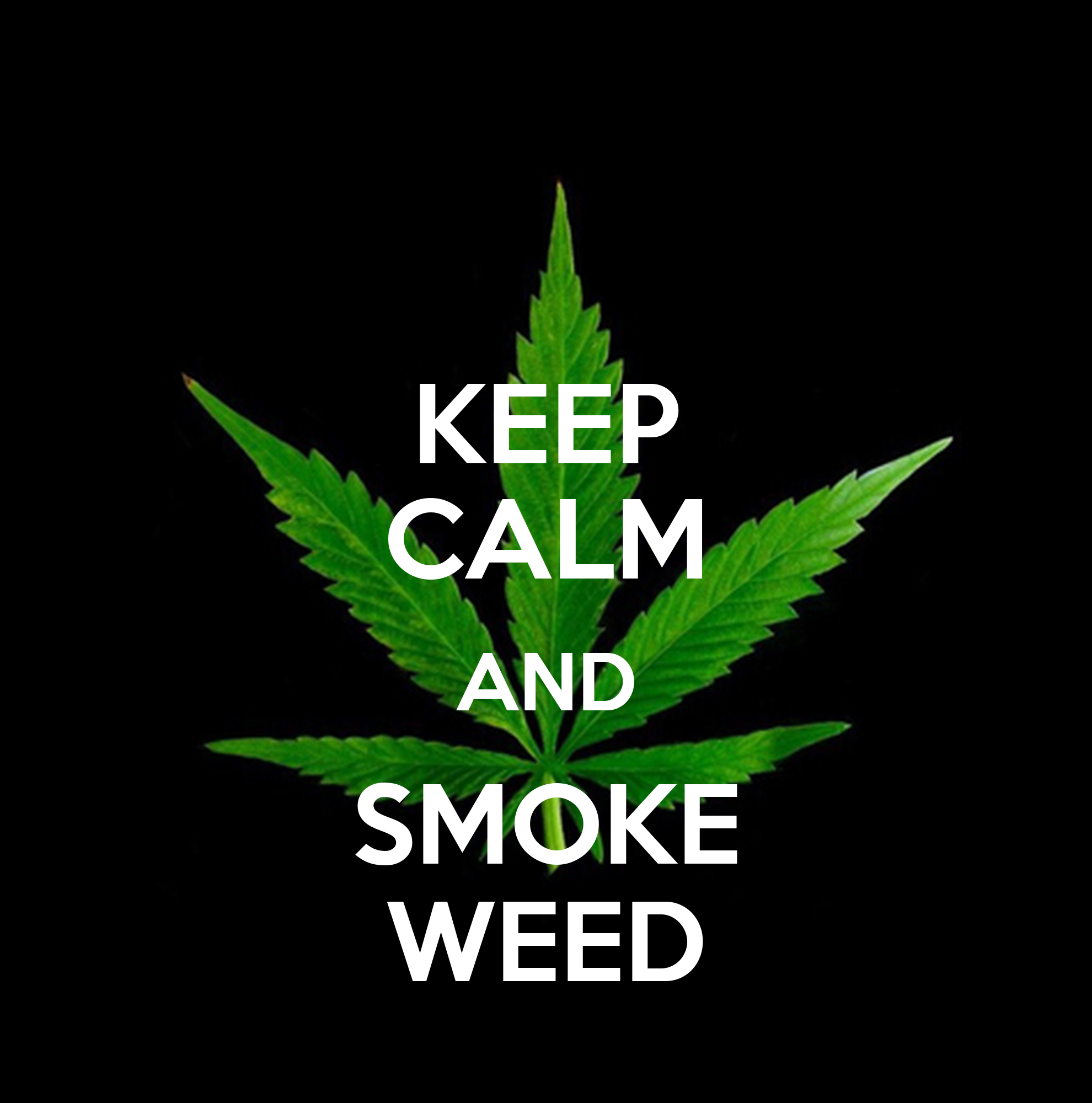 3d Wall Stickers Online Keep Calm And Smoke Weed 1608 Png