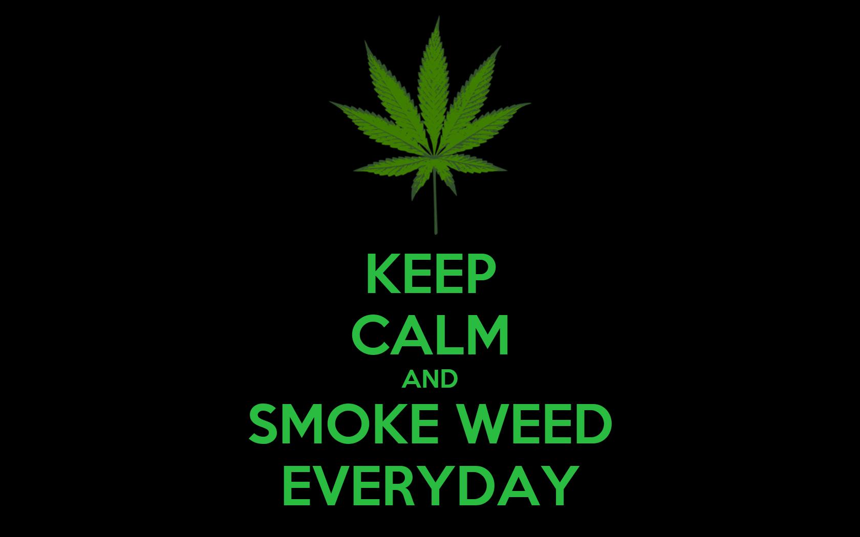 keep calm and smoke weed everyday poster monja keep