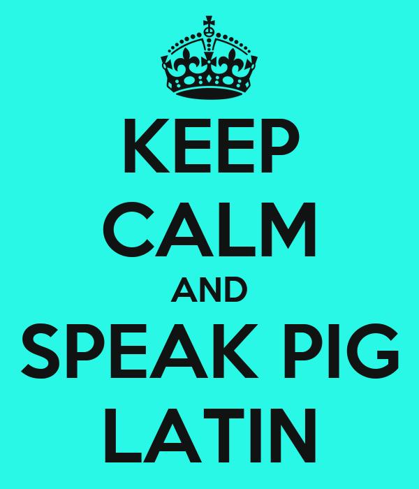 how to speak latin pdf