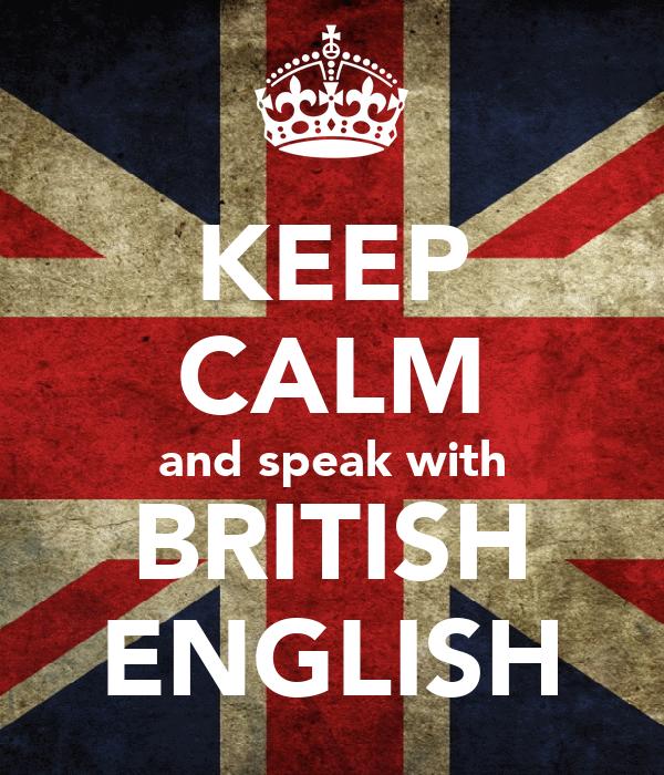 how to speak british english