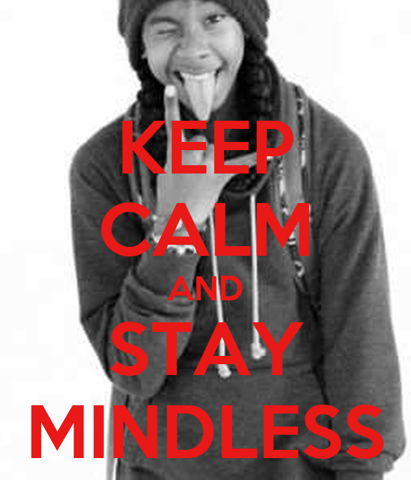 keep calm and stay mindless publish with glogster