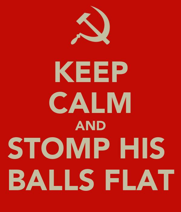 stomp on his balls