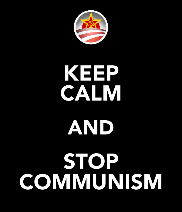 KEEP CALM AND STOP COMMUNISM Poster | Ethan Sabo | Keep Calm-o-Matic