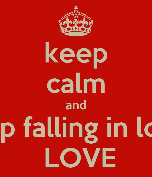 stop falling love