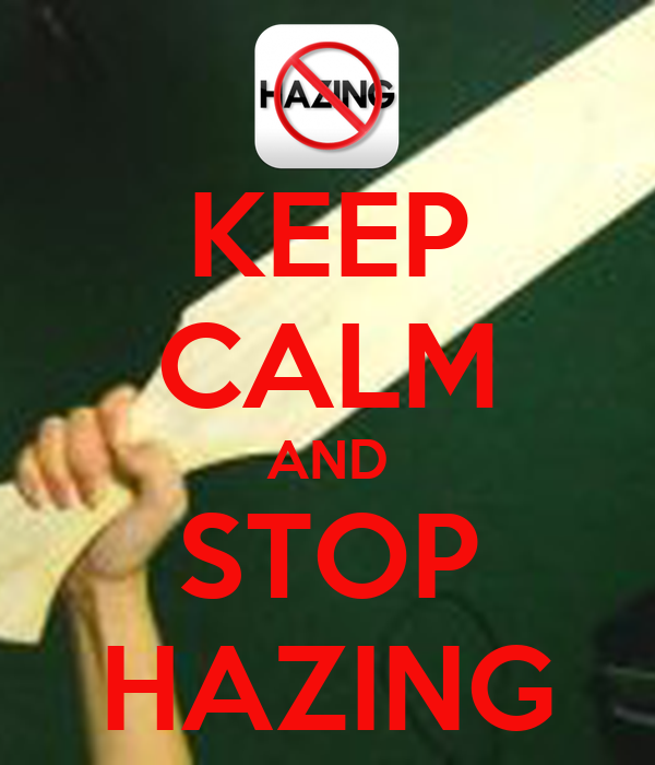 stop hazing Produced by: caliber 6 productions written by: marco lance agudo shot by: joshua mabaquiao richard mars caberte production manager: francis jane lumacang ass.