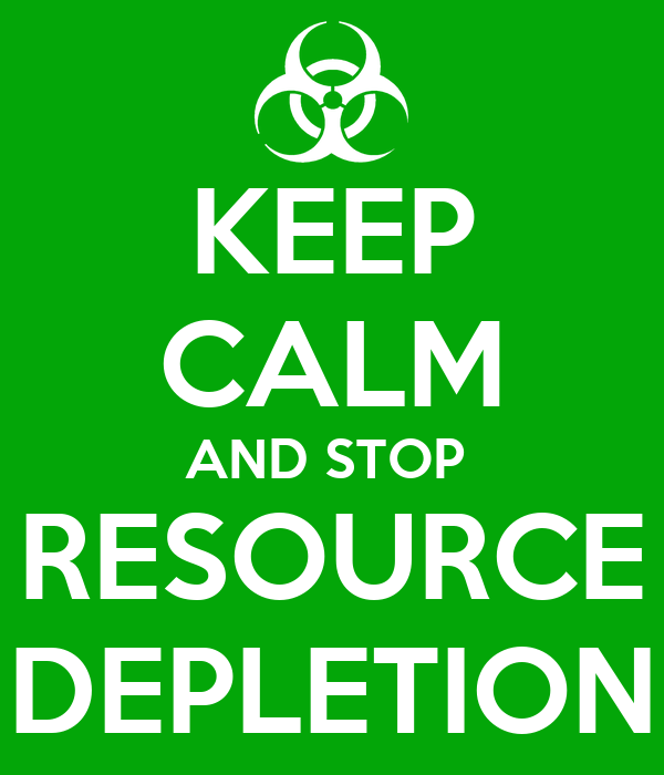 resource depletion Depletion of natural resources is associated with social inequity considering most biodiversity are located in developing countries,[9] depletion of this resource.