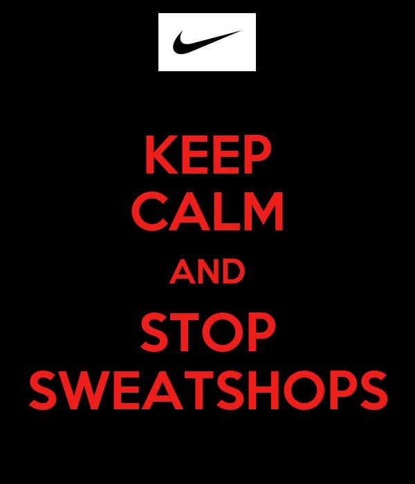 Sweatshirts and sweatshops