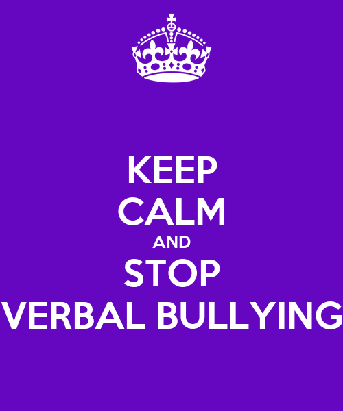 how to respond to verbal bullying