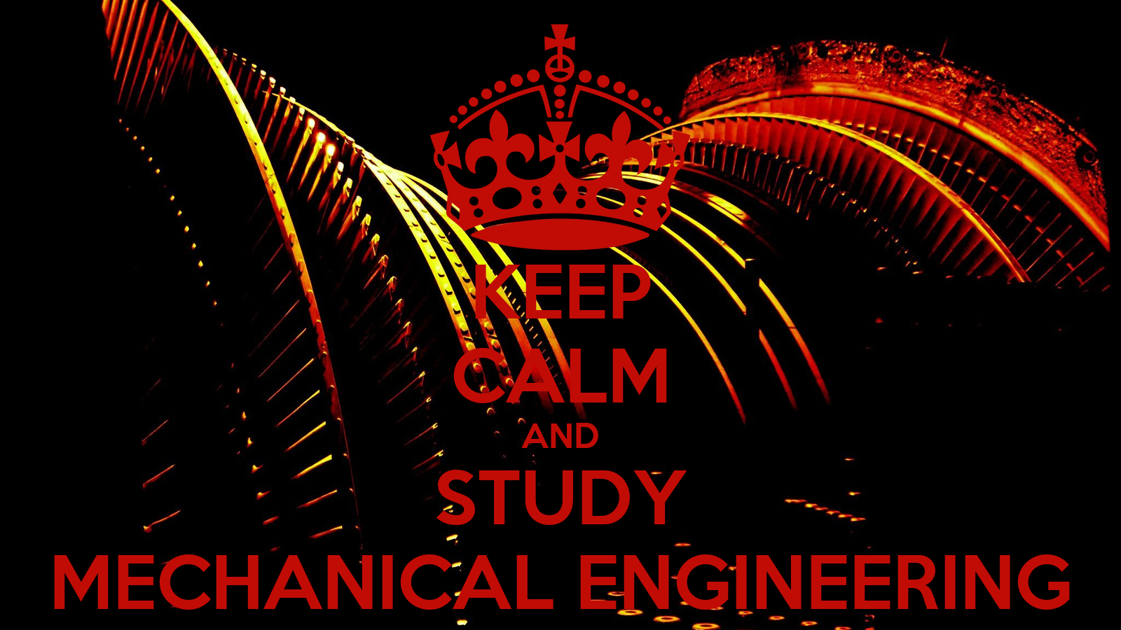 I chose to study mechanical engineering