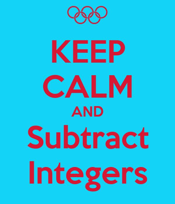 Gallery For > Subtracting Integers Keep Change Change