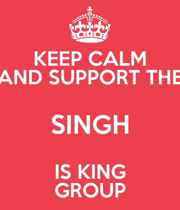 MUG//CUP//PRESENT//GIFT KEEP CALM SINGH IS KING