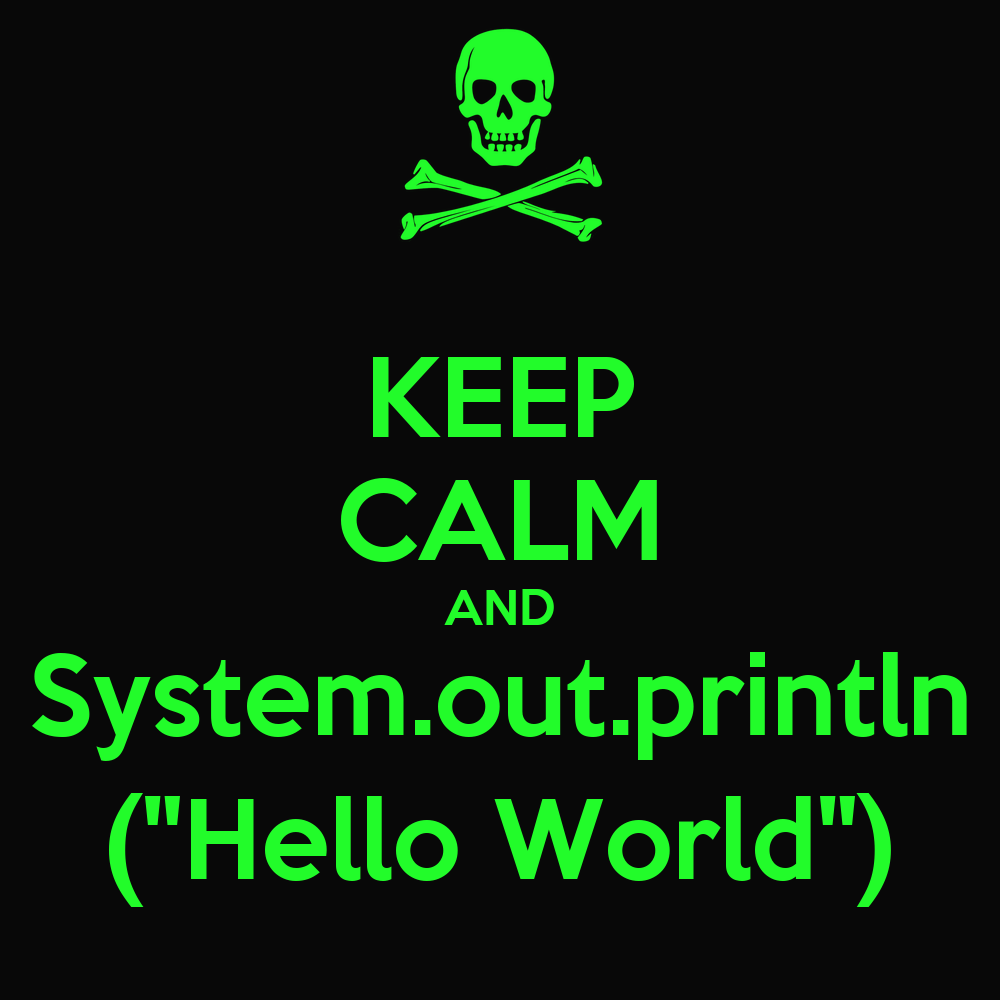 "Wallpaper Helloworld: KEEP CALM AND System.out.println (""Hello World"") Poster"
