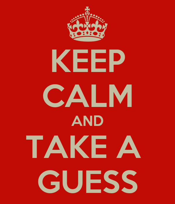 KEEP CALM AND TAKE A GUESS Poster | D | Keep Calm-o-Matic