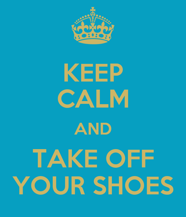 take off your shoes sign printable