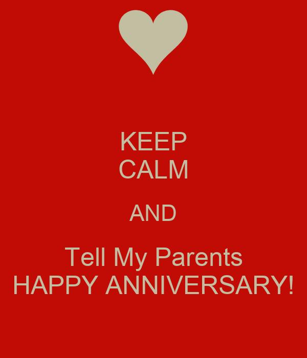 Calm Happy Parenting Parents Happy Anniversary