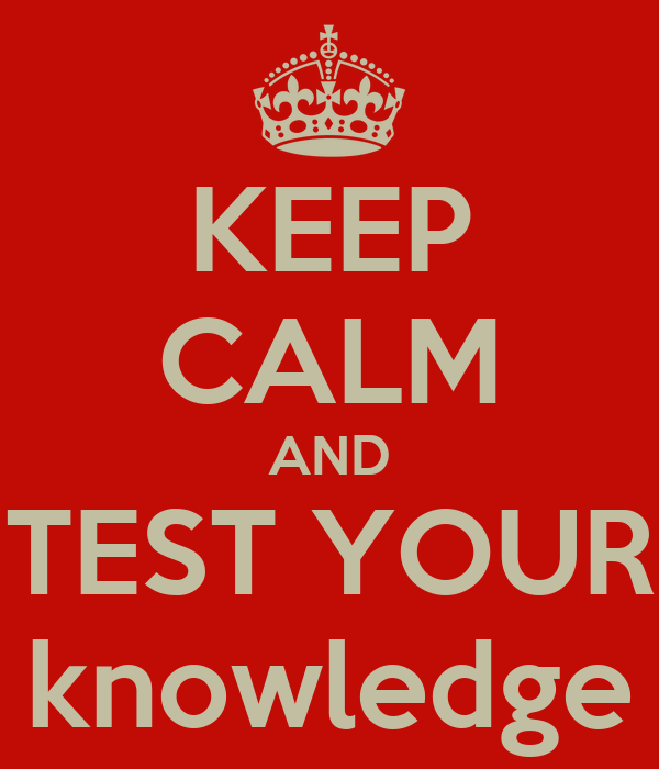 Image result for testing your knowledge