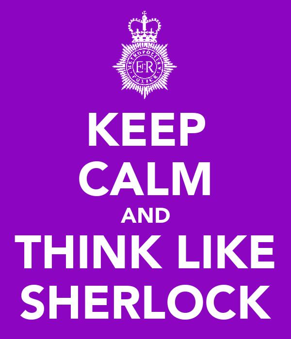 how to think like sherlock book