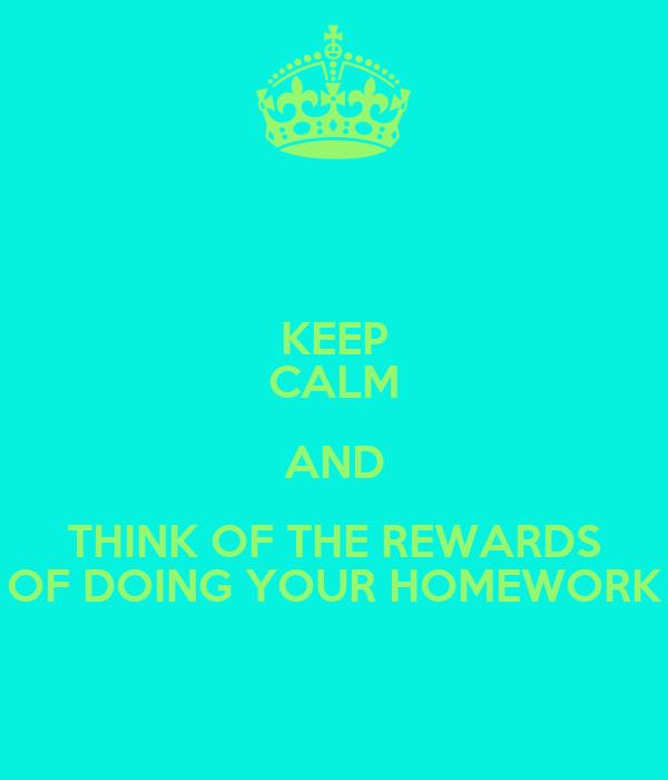 rewards for doing homework