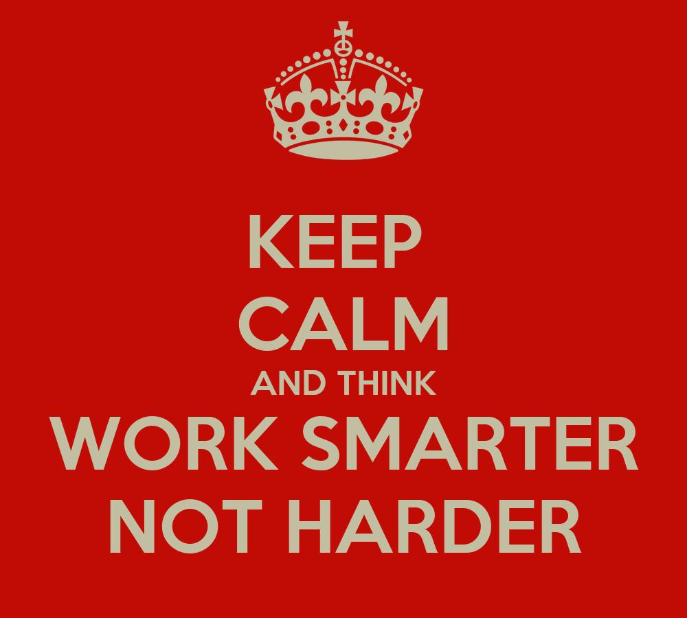 work smarter not harder pdf