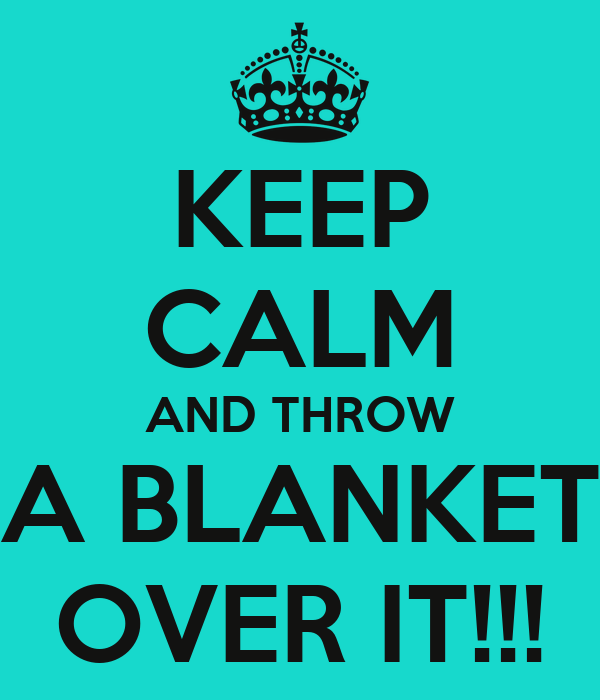 KEEP CALM AND THROW A BLANKET OVER IT Poster Harmony Keep Delectable Keep Calm And Throw A Blanket On It