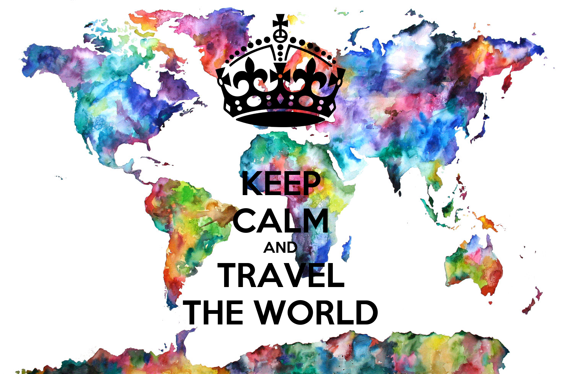 Keep calm and travel the world poster simon keep calm for Cruise around the world