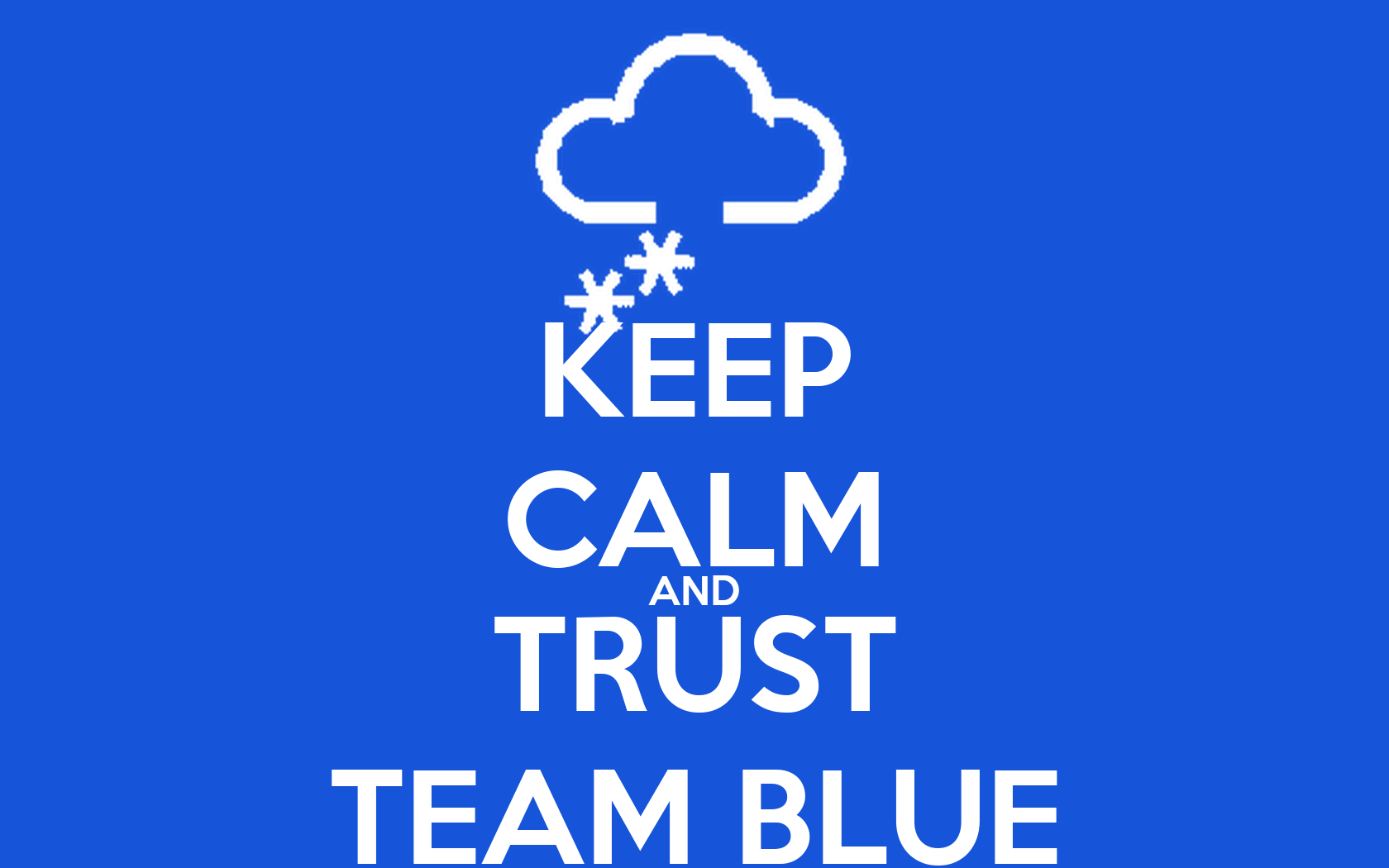 Wall Stickers Sale Keep Calm And Trust Team Blue Poster Asdasd Keep Calm