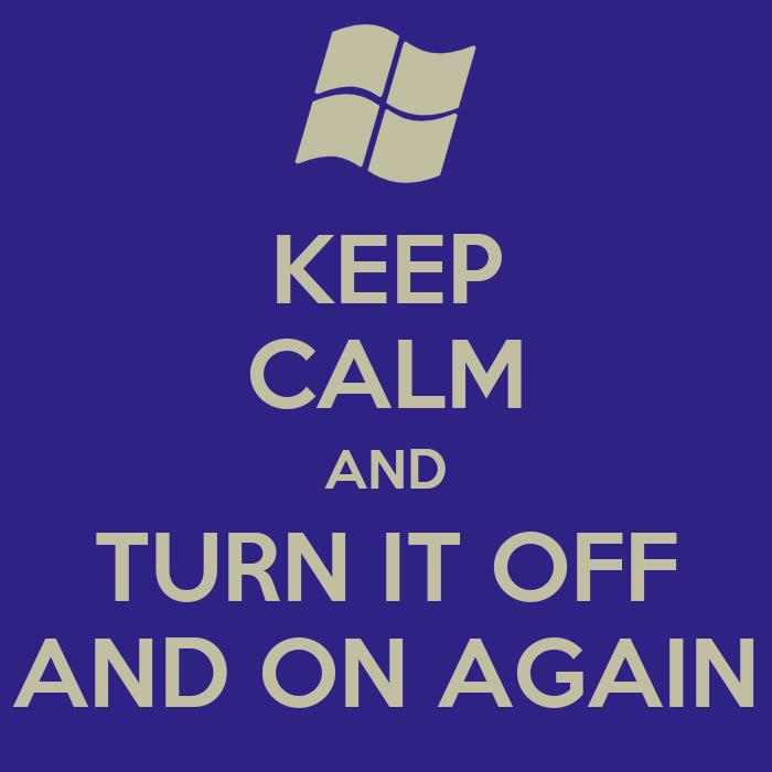 Turning It Off