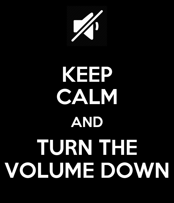 KEEP CALM AND TURN THE VOLUME DOWN Poster | shae | Keep ...