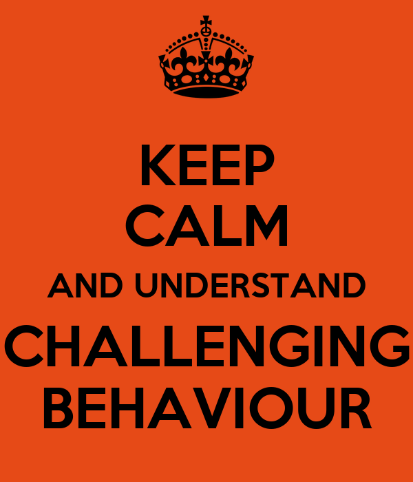 different concepts of challenging behaviour 31 understanding the nature of behaviour that challenges 32 understanding  positive  in providing support to people who challenge, across different groups  in order to address  applicants understand the concept and are able to 'live it.