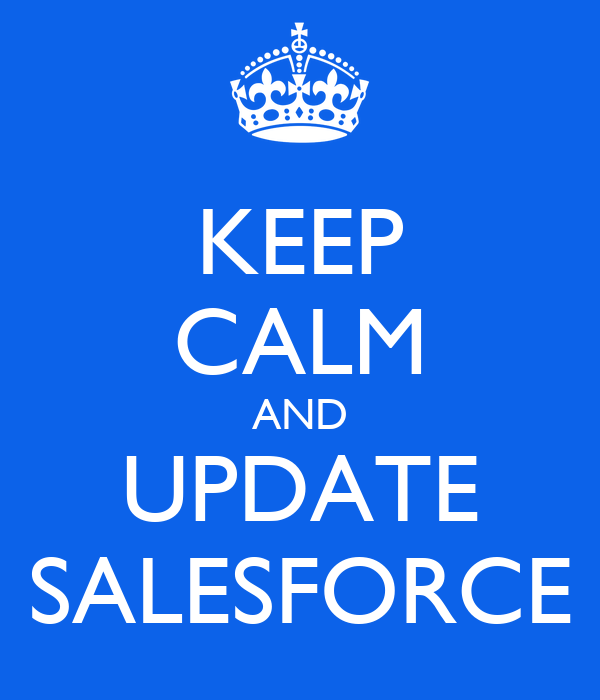 Keep calm and update salesforce poster scot keep calm for Salesforce free t shirt