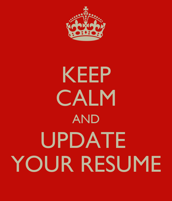 related post of get your resume updated