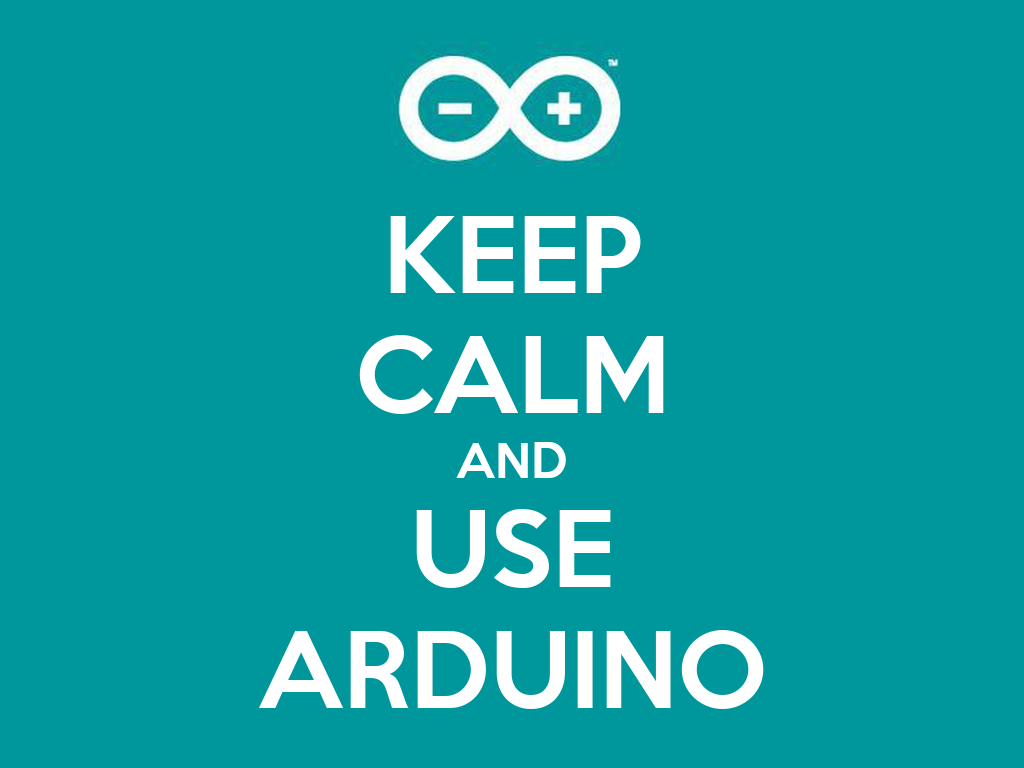 Keep calm and use arduino poster michele o matic