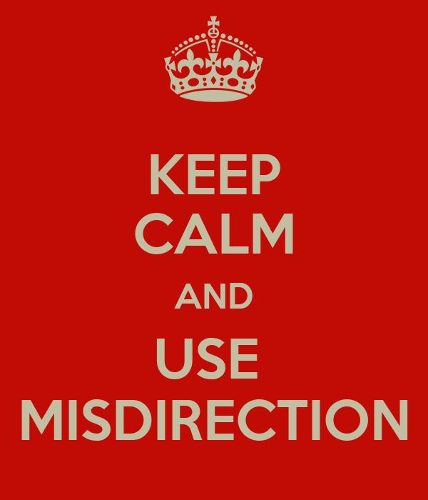 Image result for misdirection