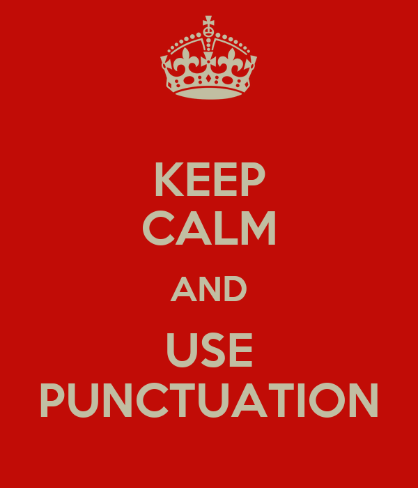how to use punctuation p