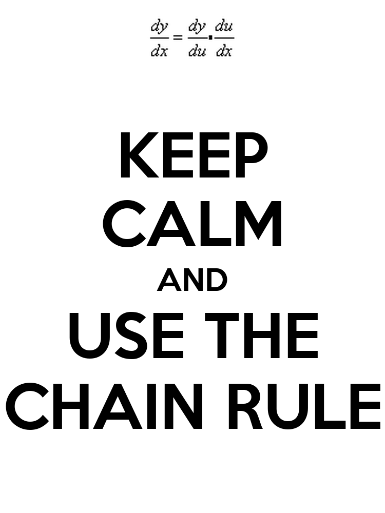 how to know when to use the chain rule