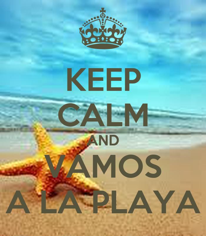 keep calm and vamos a la playa poster adf keep calm o matic. Black Bedroom Furniture Sets. Home Design Ideas