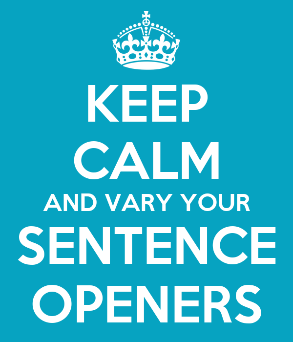 Image result for vary how your sentences start