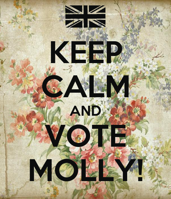 KEEP CALM AND VOTE MOLLY! - KEEP CALM AND CARRY ON Image ...